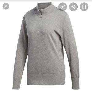 Adidas 3 Stripes Golf Cotton Pullover Sweater Top